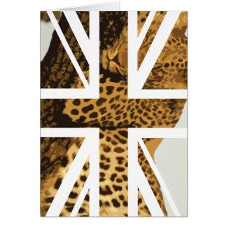 Wilde Flagge Leopard-Jack-Briten (Großbritannien) Karte
