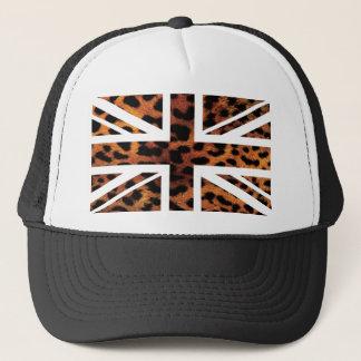 Wilde Flagge Leopard-Pelz-Muster-Jack-Briten Truckerkappe