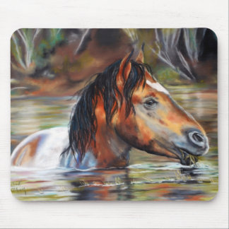 Wilde Fluss-Pferdemausunterlage Mauspad
