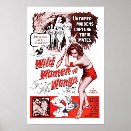 """""""Wilde Frauen von Wongo"""" Plakat"""