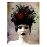 Wilde Gedanken-surreale gotische Kunst-Postkarte