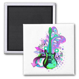 Wilde Gitarre Quadratischer Magnet