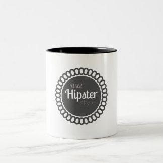 - Wilde Hipster-Art-weiße kundengerechte Tasse -