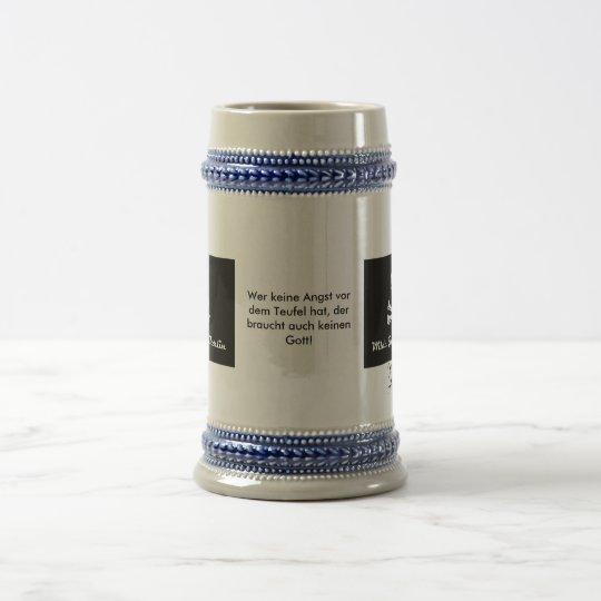 Wilde Jungz Berlin Bierkrug mit Spruch Bierglas