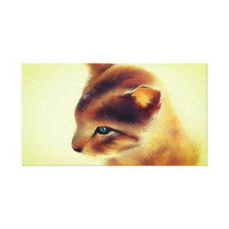 Wilde Katze Leinwanddruck
