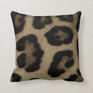 Wilde Katzen-Leopard-Stellen Kissen