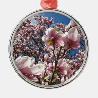 Wilde Magnolie 02 Silbernes Ornament