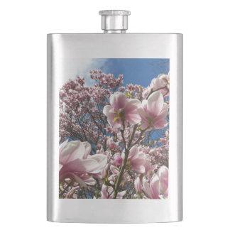 Wilde Magnolie (Frühling, Rosa, Tulpenbaum) Flachmann