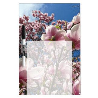 Wilde Magnolie (Frühling, Rosa, Tulpenbaum) Trockenlöschtafel