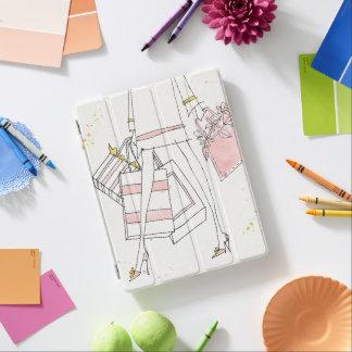 Wilde moderne rosa Mode-Skizze Apples | iPad Hülle