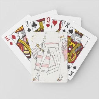 Wilde moderne rosa Mode-Skizze Apples | Spielkarten