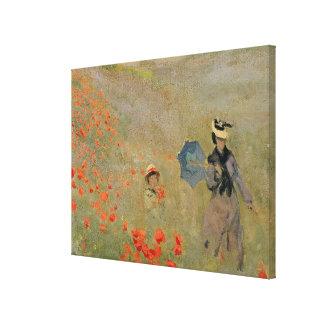 Wilde Mohnblumen Claude Monets |, nahe Argenteuil Leinwanddruck