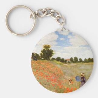 Wilde Mohnblumen Claude Monets // Standard Runder Schlüsselanhänger
