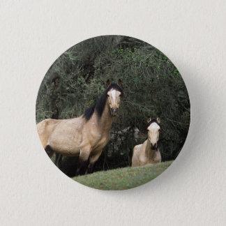 Wilde Mustang-Pferde 6 Runder Button 5,7 Cm