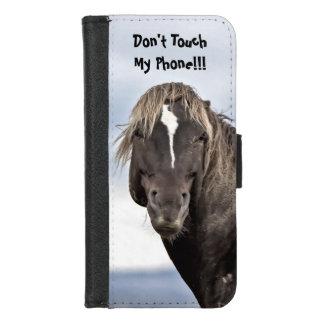Wilde Mustang-Warnung iPhone 8/7 Geldbeutel-Hülle