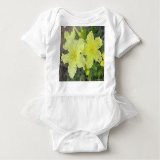 Wilde Nicotiana-Vorlage Baby Strampler