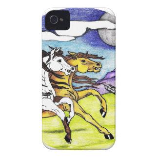 Wilde Pferde, die frei laufen iPhone 4 Hülle