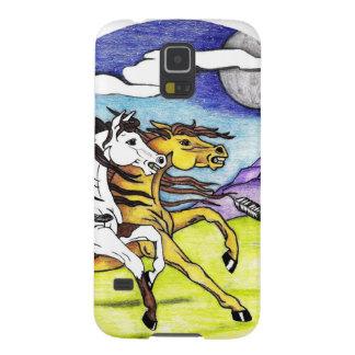 Wilde Pferde, die frei laufen Samsung S5 Cover