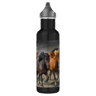Wilde Pferde Edelstahlflasche