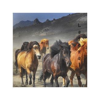 Wilde Pferde Leinwanddruck