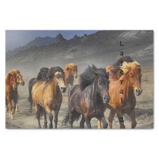 Wilde Pferde Seidenpapier