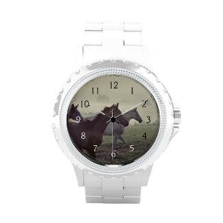 Wilde Pferde Uhr