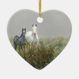 Wilde Pferde von Missouri Keramik Ornament