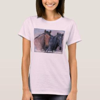 Wilde Pferdedamen-T - Shirt