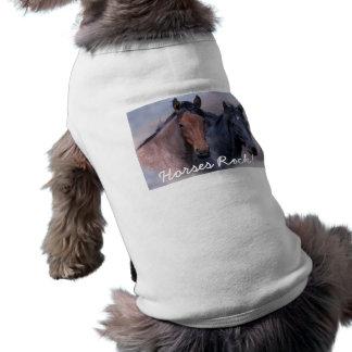 Wilde Pferdehaustier-Kleidung Ärmelfreies Hunde-Shirt