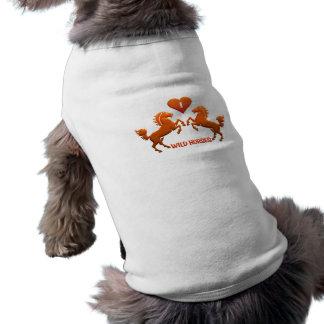 Wilde Pferdehaustierkleidung Shirt