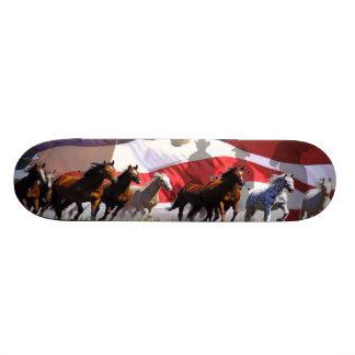 Wilde PferdeWestern-Freiheit USAskateboard-Plattfo Bedruckte Skateboarddecks
