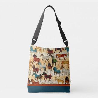 Wilde Pferdquerkörper-Taschen-Tasche Tragetaschen Mit Langen Trägern
