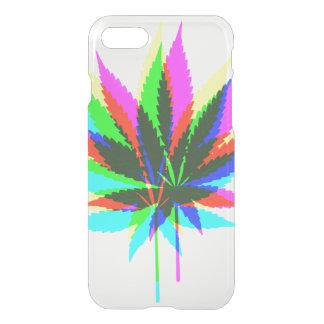 Wilde Pflanzen-Blätter - Neon gefärbt + Ihre Ideen iPhone 8/7 Hülle