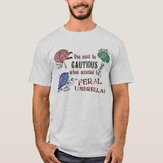 Wilde Regenschirm-viktorianisches surrealistisches T-Shirt