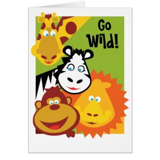 Wilde Sache - Safari-Geburtstags-Karte Karte