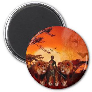 Wilde Savanne Runder Magnet 5,7 Cm