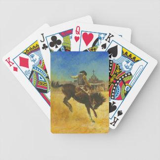 Wilde sträubende Pferden-Westspielkarten Bicycle Spielkarten