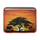 Wilde Tiere auf Savanne-Sonnenuntergang Macbook Hü Sleeve Fürs MacBook Air
