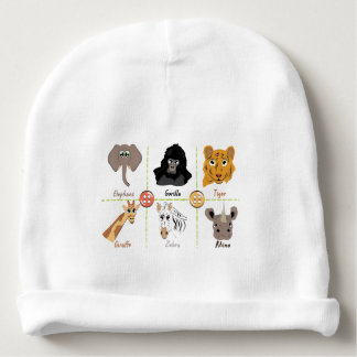 Wilde Tiere Babymütze