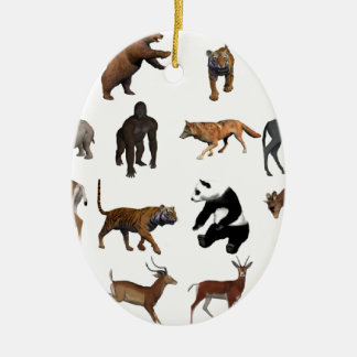 Wilde Tiere Keramik Ornament