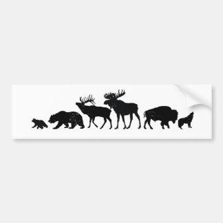 Wilde Tiere von Yellowstone Autoaufkleber