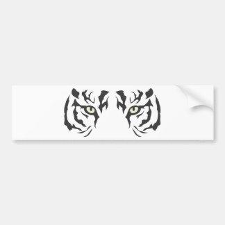 Wilde Tiger-Augen Autoaufkleber