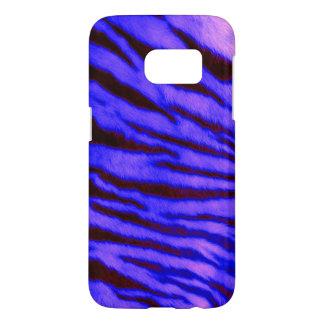 Wilde u. vibrierende blaue Tiger-Streifen