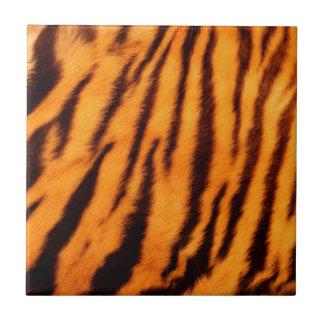 Wilde u. vibrierende orange Tiger-Streifen Keramikfliese