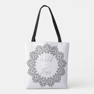 Wilde und freie Taschen-Käufer-Tasche Schwarzweiss Tasche