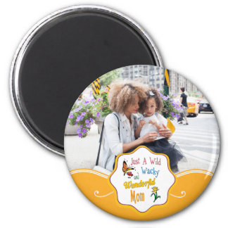 Wilde verrückte wunderbare Mamma-Geschenke Runder Magnet 5,1 Cm