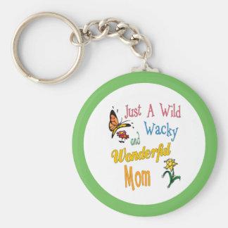 Wilde verrückte wunderbare Mamma-Geschenke Schlüsselanhänger