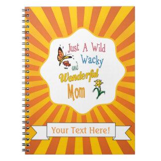 Wilde verrückte wunderbare Mamma-Geschenke Spiral Notizblock