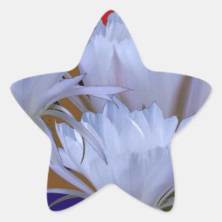 Wilde weiße Lilly Blume:  Fantastische Welt der Stern-Aufkleber