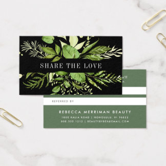 Wilde Wiese | grüne u. schwarze Empfehlung Visitenkarte